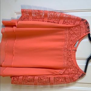 Peach Lace Maurices Blouse